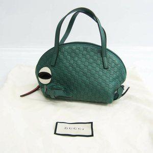 Authentic Gucci Guccissima Children Frog 340620 Bo